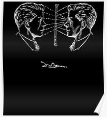 Lacan Man - weiß auf schwarz Poster