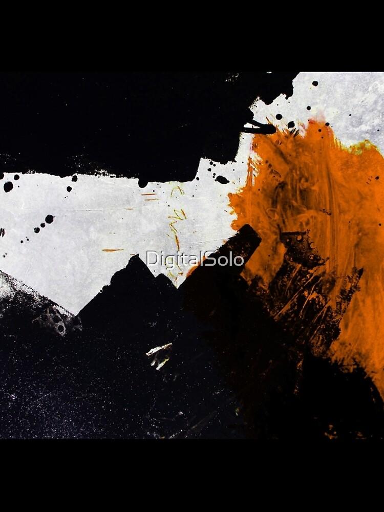 Minimal Orange on Black by DigitalSolo