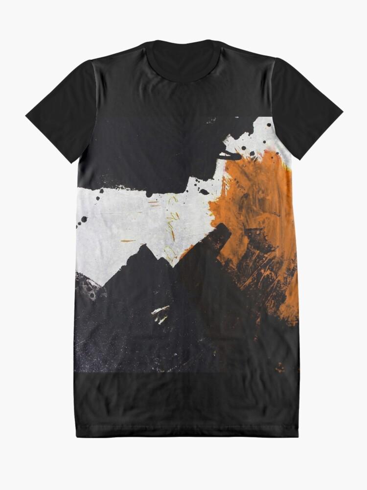 Alternate view of Minimal Orange on Black Graphic T-Shirt Dress