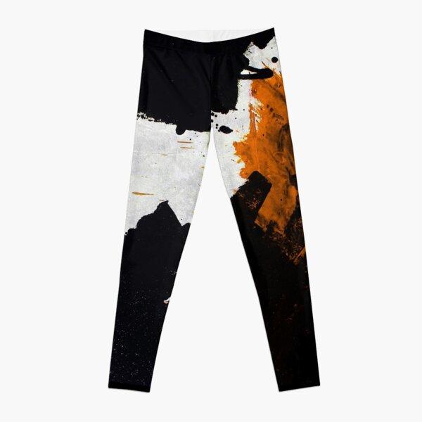 Minimal Orange on Black Leggings
