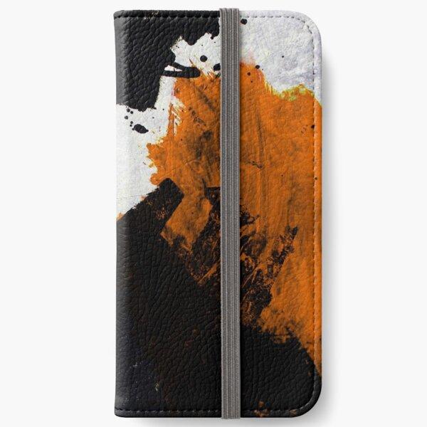 Minimal Orange on Black iPhone Wallet