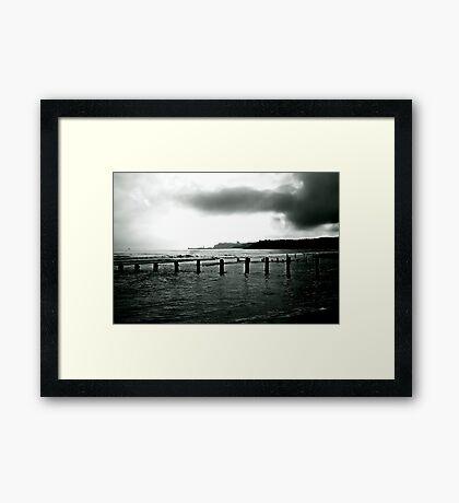 Looking Across Sandsend Wyke. Framed Print