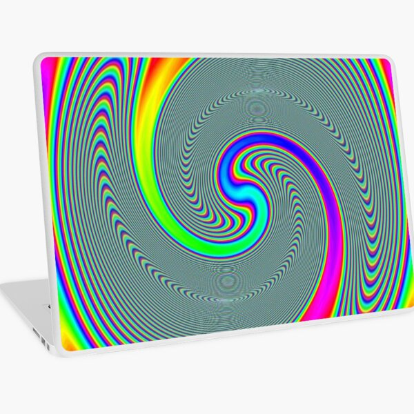 #Rainbow, #creativity, #abstract, #vortex, bright, design, art, nature, psychedelic  Laptop Skin
