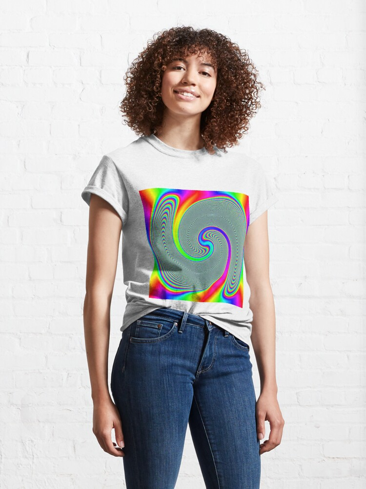 Alternate view of #Rainbow, #creativity, #abstract, #vortex, bright, design, art, nature, psychedelic  Classic T-Shirt