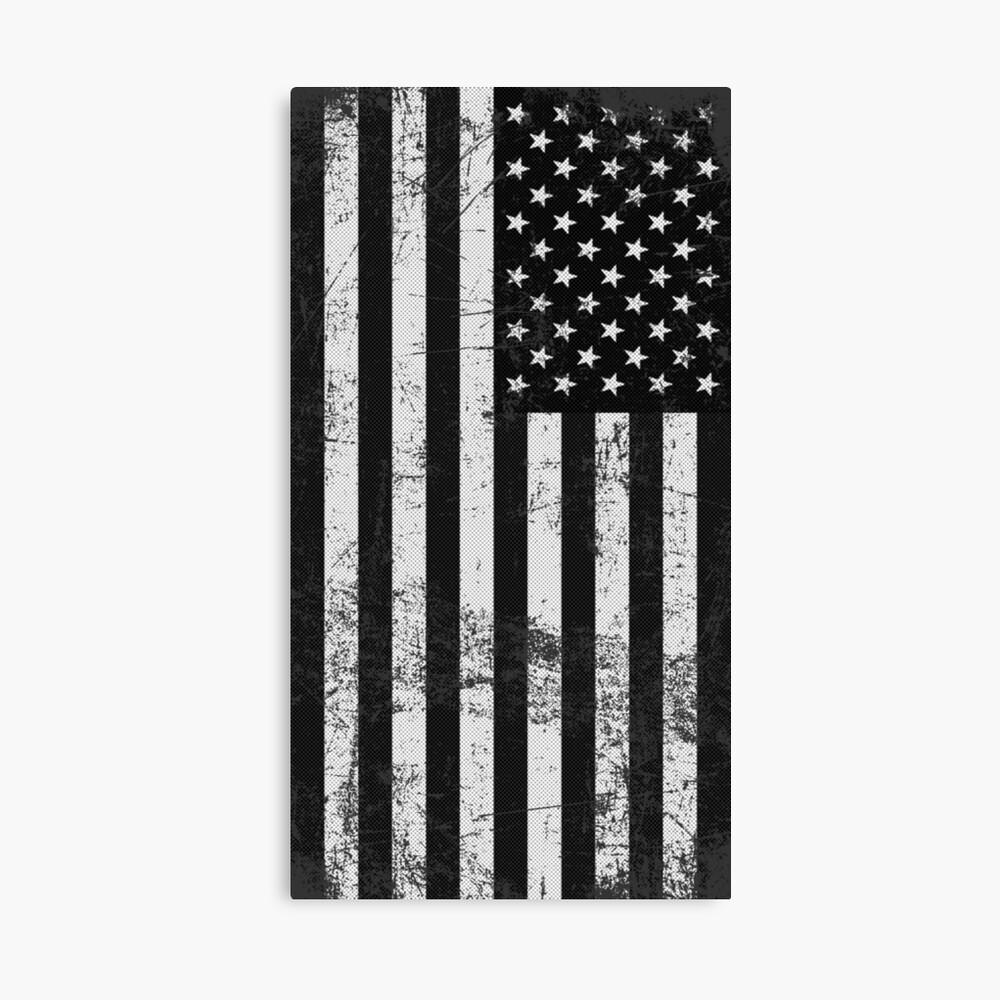 Bandera americana blanco y negro Lienzo