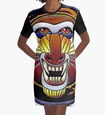 clan fire mandrill Graphic T-Shirt Dress
