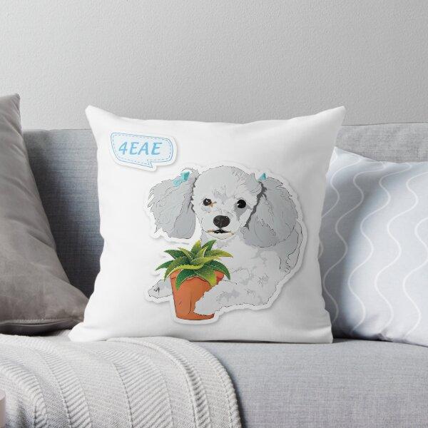 "Cutie Canine ""4EAE"" Throw Pillow"