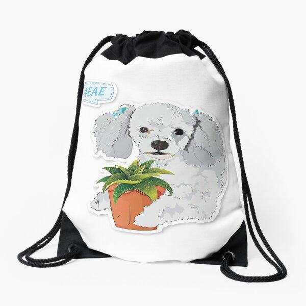 """Cutie Canine """"4EAE"""" Drawstring Bag"""
