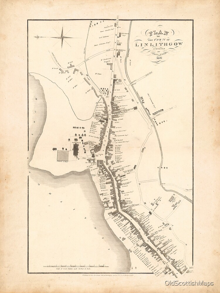 Linlithgow | Old Scottish Town Plan, Old Map of Linlithgow, Scotland by OldScottishMaps