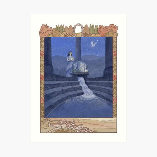Letters From The Labyrinth | Room #2: The Oracle of Saturn Art Print