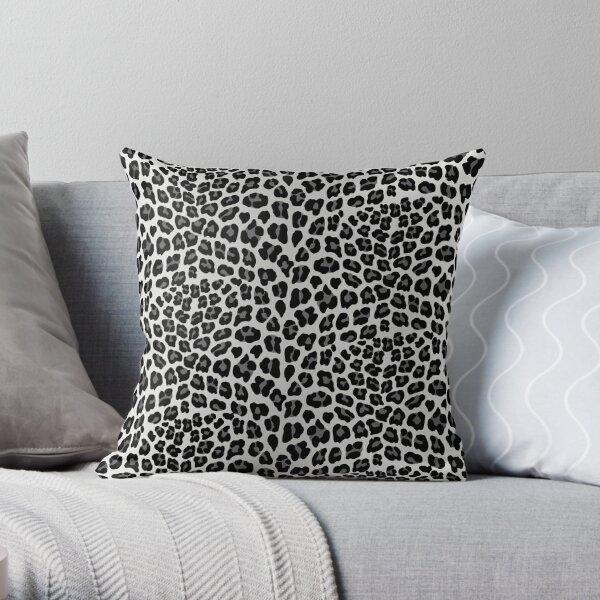 Snow Leopard print Throw Pillow