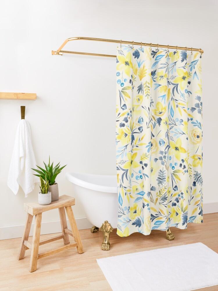 Alternate view of Golden Morning Shower Curtain