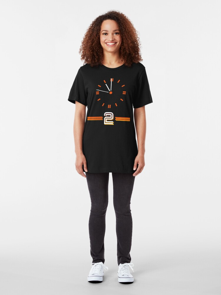 Alternate view of NDVH BBC 2 Clock Slim Fit T-Shirt