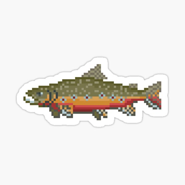 Brook Trout Pixel Art: River Legends Game Sticker