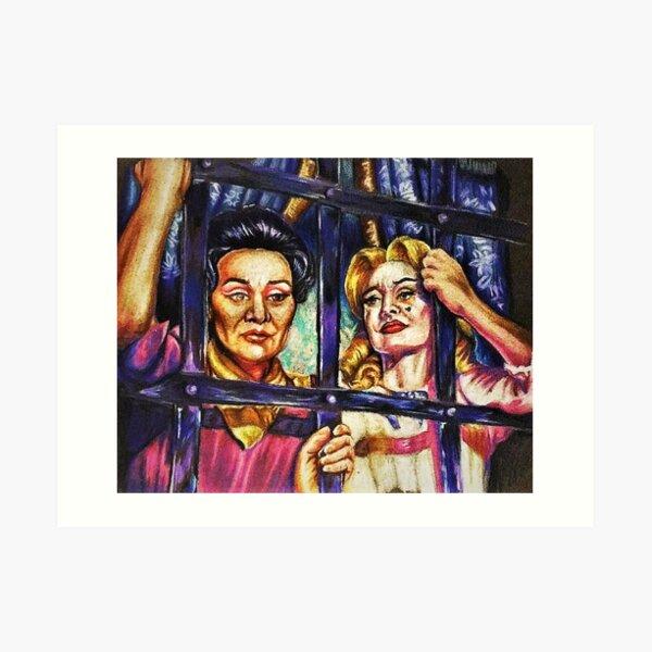 Feud with Susan Surandon and Jessica Lange Art Print