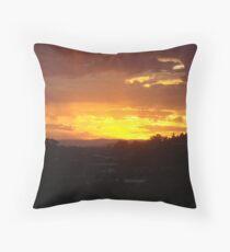 Lenah Valley Sunrise, Tasmania, Australia Throw Pillow