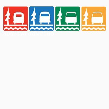 Buses at Bon Echo by vschmidt