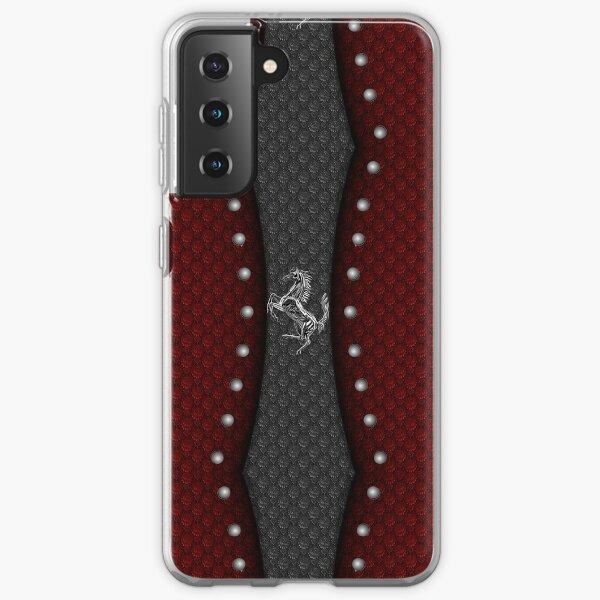 Prancing Horse 2 (Silver) Samsung Galaxy Soft Case