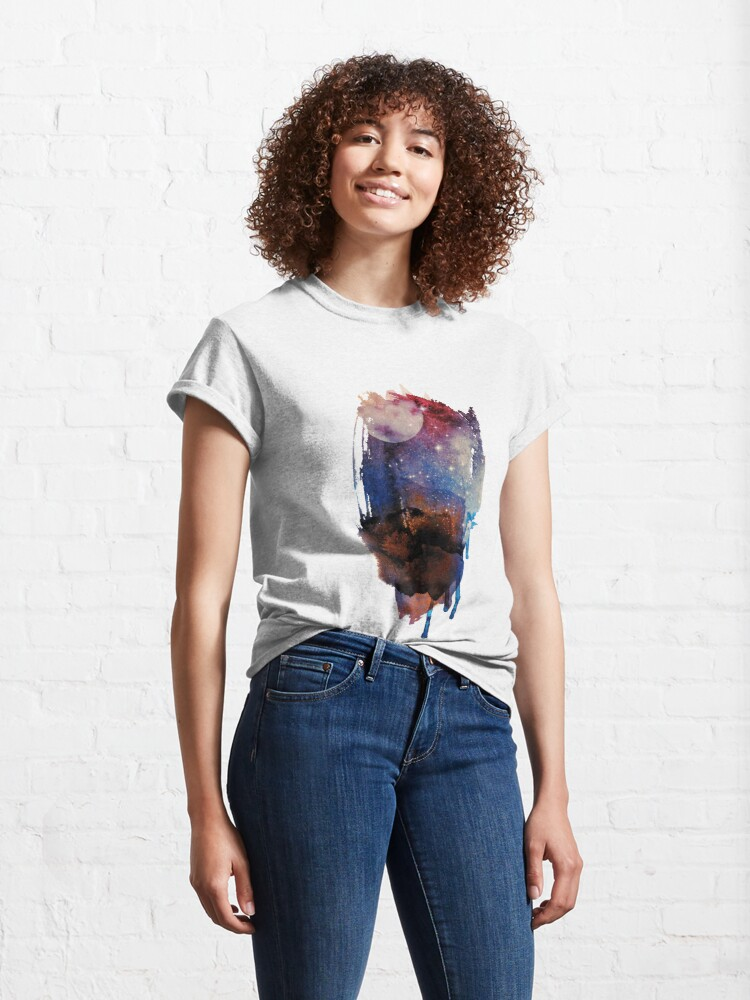 Alternate view of Abstract watercolour: red, blue, white, and black Classic T-Shirt
