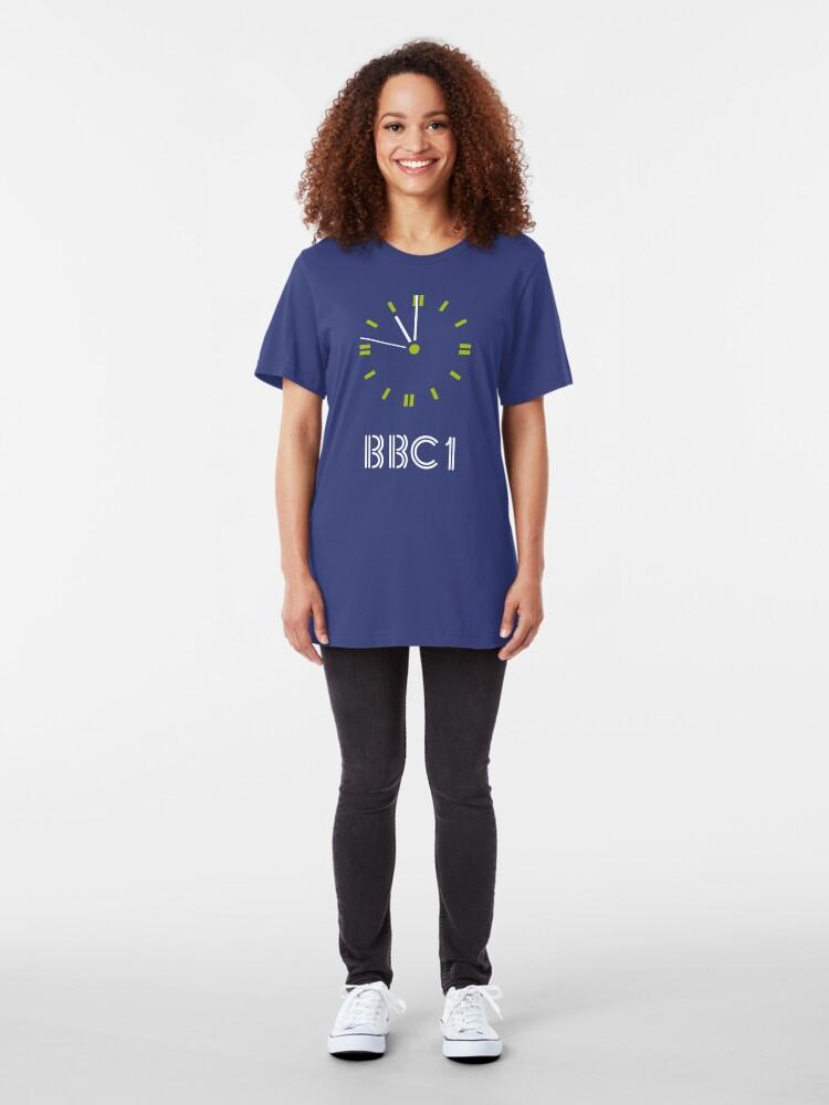 Alternate view of NDVH BBC 1 Clock Slim Fit T-Shirt