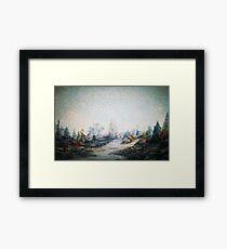 A Dreamscape -Impressionistic Garden Framed Print