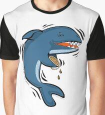 Overly Caffeinated Shark Graphic T-Shirt