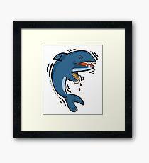 Overly Caffeinated Shark Framed Print