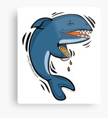 Overly Caffeinated Shark Metal Print