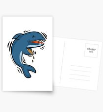 Overly Caffeinated Shark Postcards