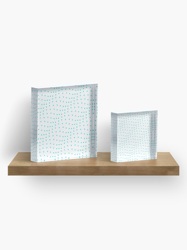 Alternate view of #Design, #punt, #art, #abstract, square, pattern, illustration, vector, modern Acrylic Block