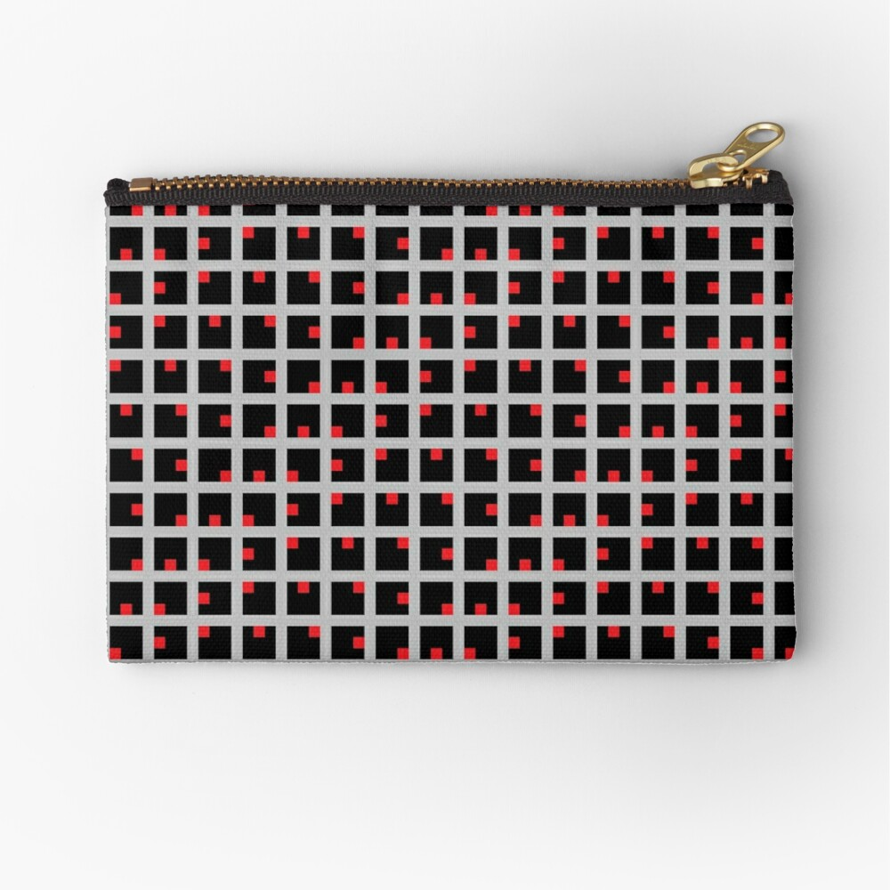 #Design, #punt, #art, #abstract, square, pattern, illustration, vector, modern Zipper Pouch