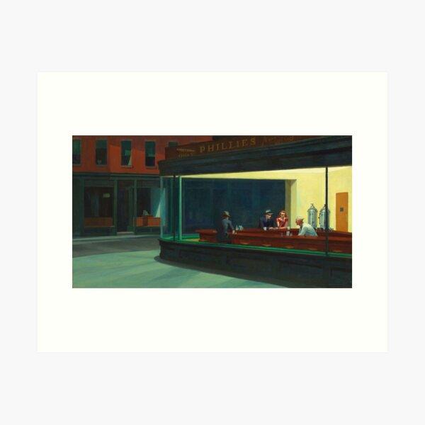 AMERICAN ARTIST. Edward Hopper, Nighthawks, 1942. Art Print
