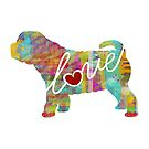 Sharpei Love - A Bright and Colorful Watercolor Style Gift by traciwithani