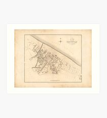 Portobello | Old Scottish Town Plan, Antique Map of Edinburgh's Beach Town, Porty, Vintage Map Print Art Print