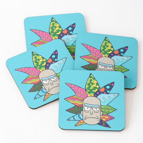 Rick's Psychedelic Hair Coasters (Set of 4)