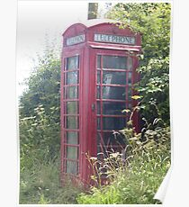 old british telephone box Poster