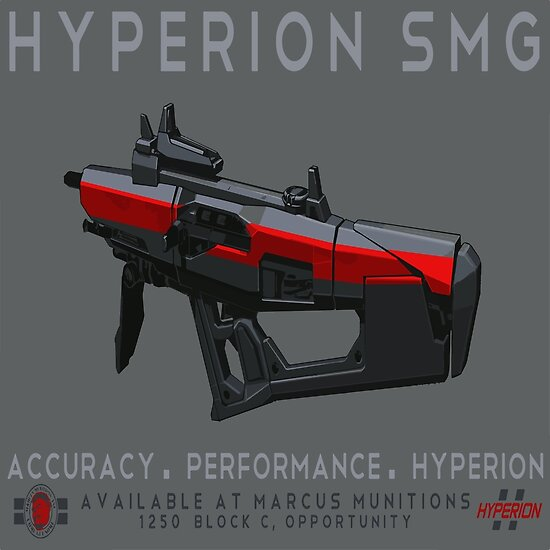 'Hyperion SMG' Poster by captainzappy