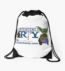 Incorrigible Party logo and Thuft Drawstring Bag