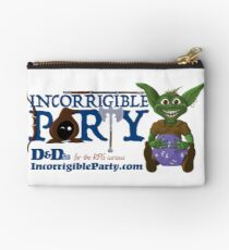 Incorrigible Party logo and Thuft Zipper Pouch