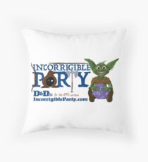 Incorrigible Party logo and Thuft Floor Pillow