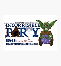 Incorrigible Party logo and Thuft Photographic Print