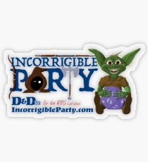 Incorrigible Party logo and Thuft Transparent Sticker