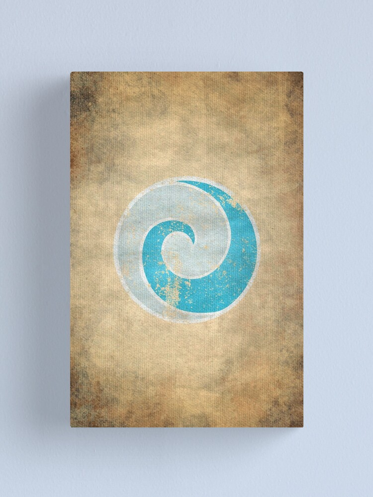 Alternate view of Air Nomads Logo · Distressed Canvas Print