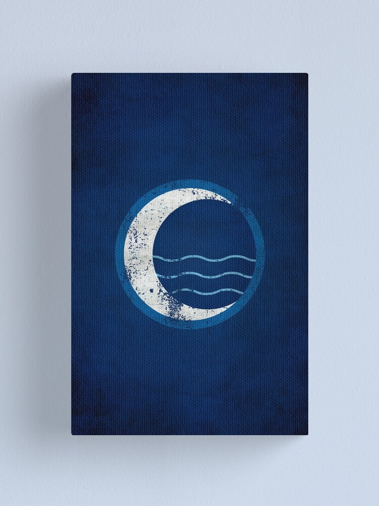 Alternate view of Water Tribe Logo · Distressed Canvas Print