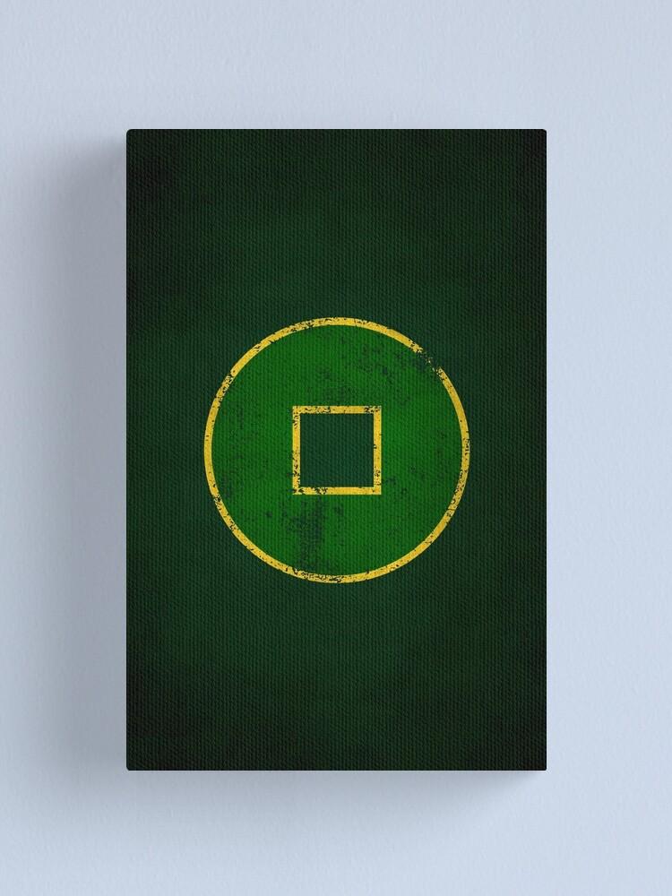 Alternate view of Earth Kingdom Logo · Distressed Canvas Print
