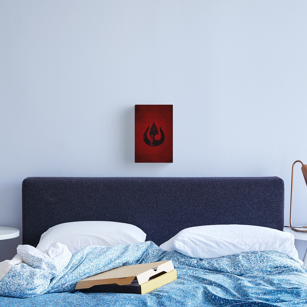 Fire Nation Logo · Distressed Canvas Print