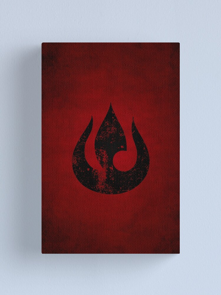 Alternate view of Fire Nation Logo · Distressed Canvas Print