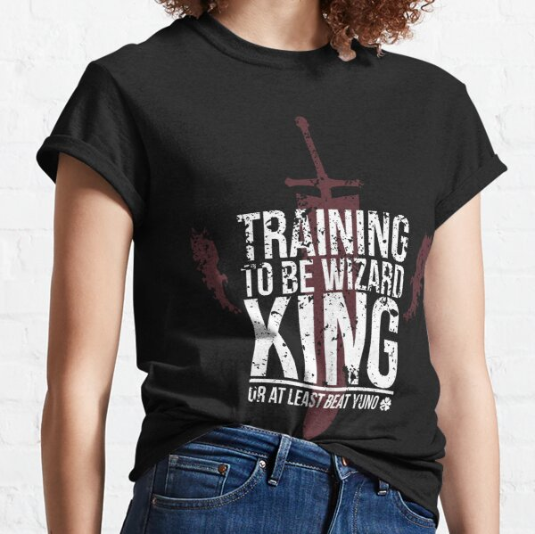 Entrenando para ser Wizard King, o al menos vencer a Yuno Camiseta clásica