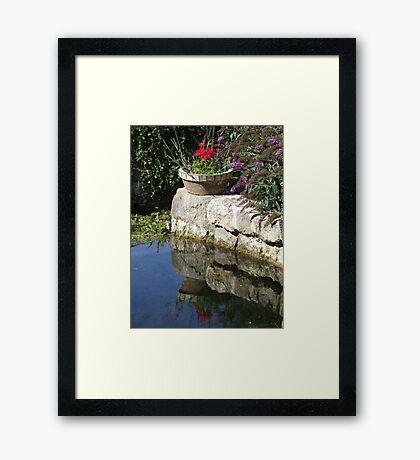 Garden Reflection Framed Print