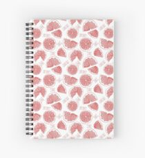Grapefruit hand drawn red doodle seamless pattern. Spiral Notebook